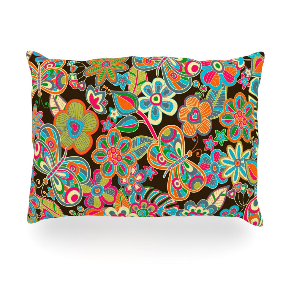 "Julia Grifol ""My Butterflies & Flowers"" Oblong Pillow - KESS InHouse"
