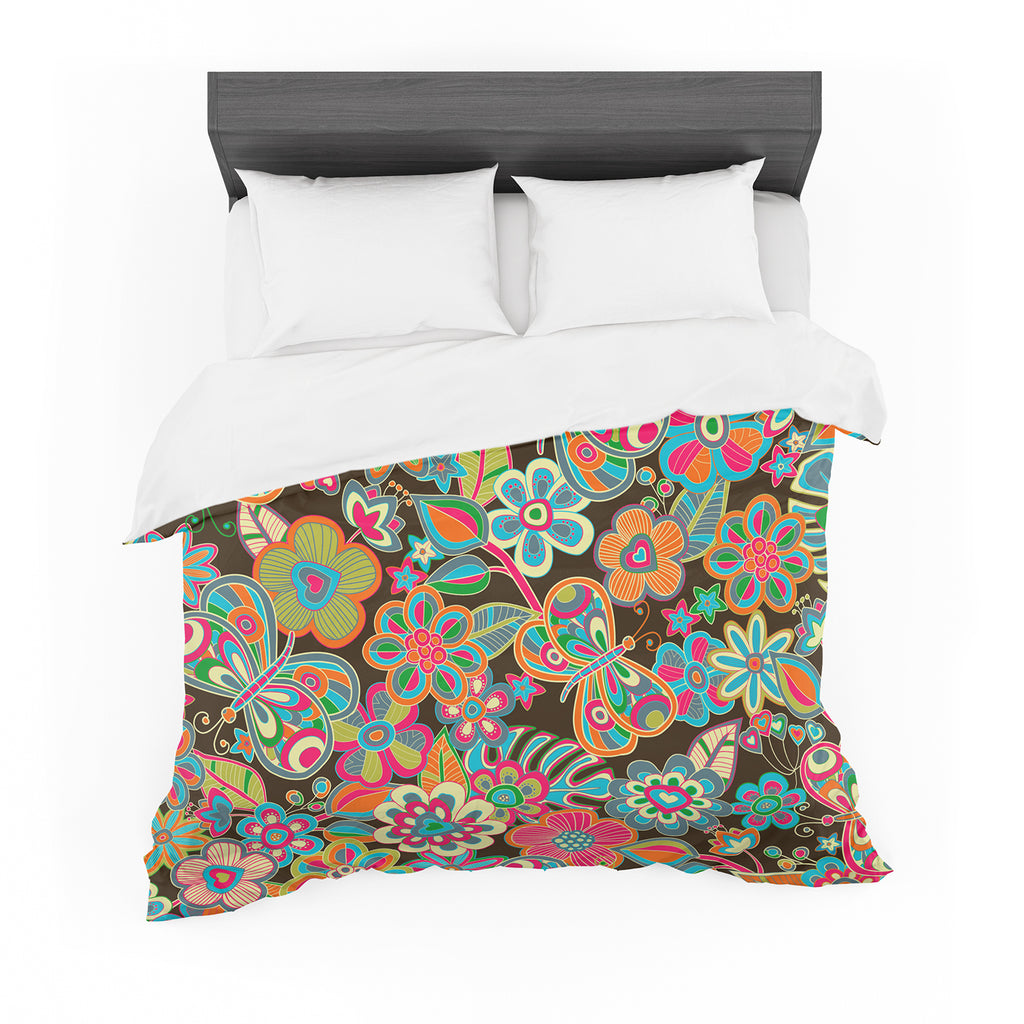 "Julia Grifol ""My Butterflies & Flowers"" Featherweight Duvet Cover"