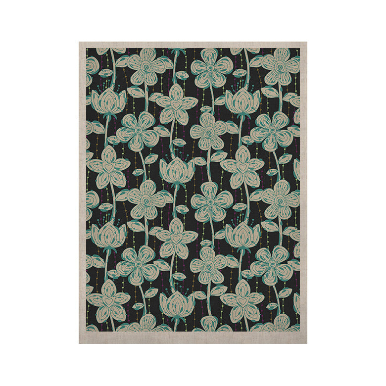 "Julia Grifol ""My Grey Spotted Flowers"" KESS Naturals Canvas (Frame not Included) - KESS InHouse  - 1"