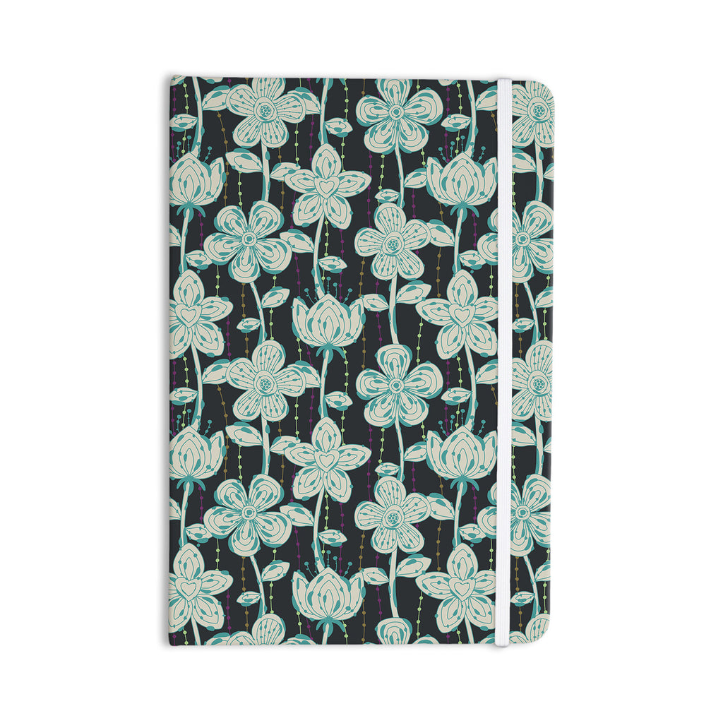 "Julia Grifol ""My Grey Spotted Flowers"" Everything Notebook - KESS InHouse  - 1"