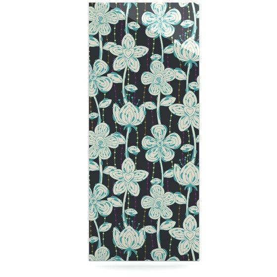 "Julia Grifol ""My Grey Spotted Flowers"" Luxe Rectangle Panel - KESS InHouse  - 1"