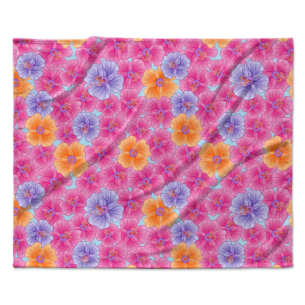 "Julia Grifol ""My Pink Garden"" Fleece Throw Blanket"