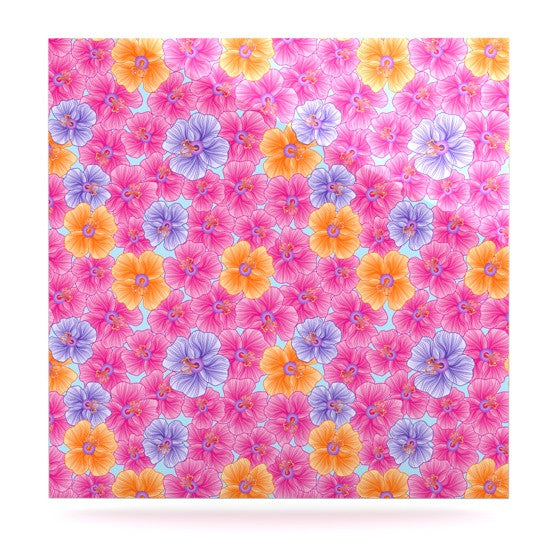 "Julia Grifol ""My Pink Garden"" Luxe Square Panel - KESS InHouse  - 1"