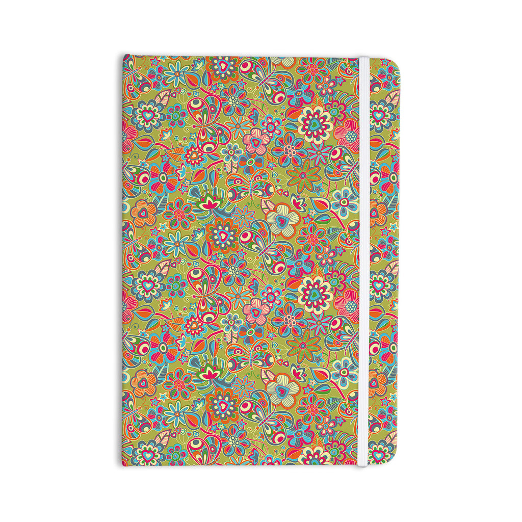 "Julia Grifol ""My Butterflies & Flowers in Green"" Rainbow Floral Everything Notebook - KESS InHouse  - 1"