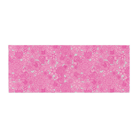 "Julia Grifol ""Welcome Birds To My Pink Garden"" Bed Runner - KESS InHouse"