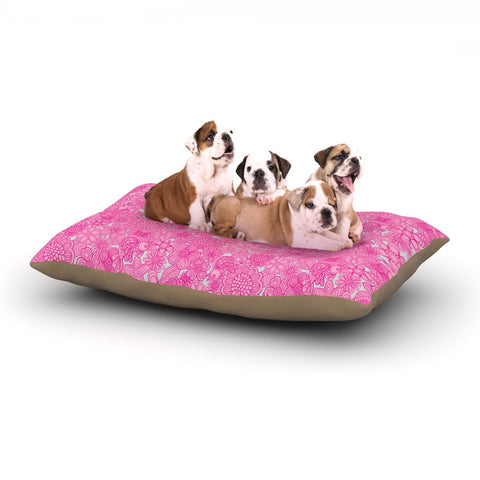 "Julia Grifol ""Welcome Birds To My Pink Garden"" Dog Bed - KESS InHouse  - 1"