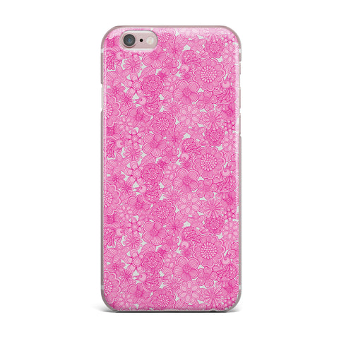 "Julia Grifol ""Welcome Birds To My Pink Garden"" iPhone Case - KESS InHouse"