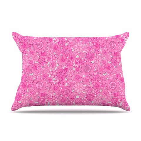 "Julia Grifol ""Welcome Birds To My Pink Garden"" Pillow Sham - KESS InHouse"