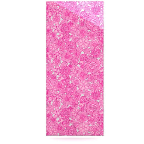 "Julia Grifol ""Welcome Birds To My Pink Garden"" Luxe Rectangle Panel - KESS InHouse  - 1"