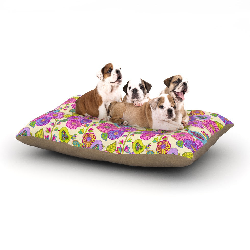 "Julia Grifol ""My Birds and My Flowers"" Dog Bed - KESS InHouse  - 1"