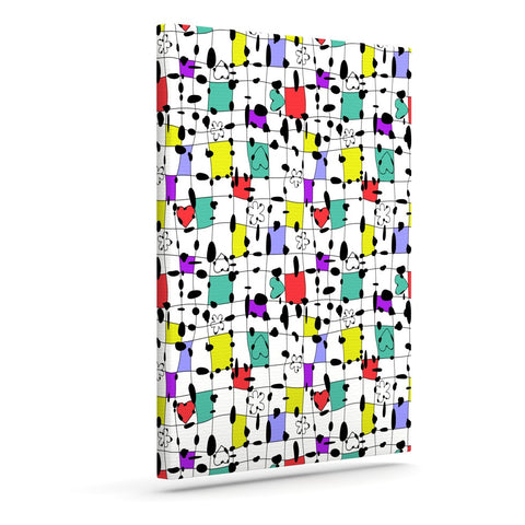 "Julia Grifol ""My Happy Squares"" Outdoor Canvas Wall Art - KESS InHouse  - 1"