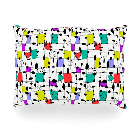 "Julia Grifol ""My Happy Squares"" Oblong Pillow - KESS InHouse"