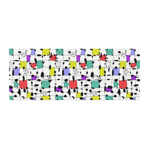 "Julia Grifol ""My Happy Squares"" Bed Runner - KESS InHouse"