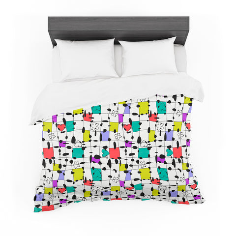 "Julia Grifol ""My Happy Squares"" Featherweight Duvet Cover"
