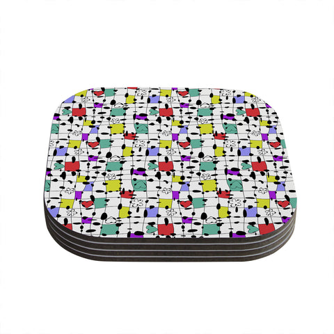 "Julia Grifol ""My Happy Squares"" Coasters (Set of 4)"