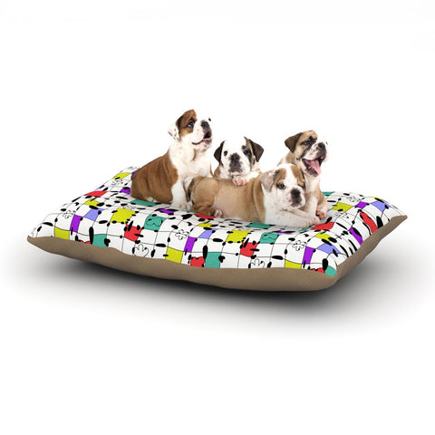 "Julia Grifol ""My Happy Squares"" Dog Bed - KESS InHouse  - 1"