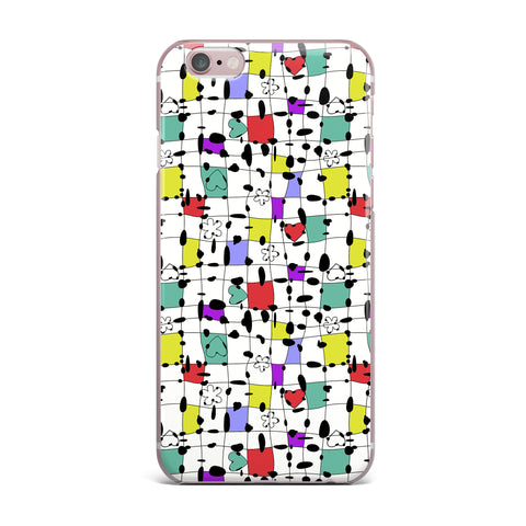 "Julia Grifol ""My Happy Squares"" iPhone Case - KESS InHouse"