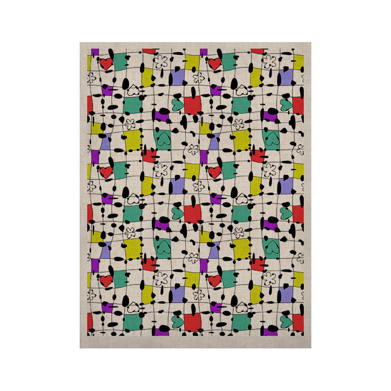 "Julia Grifol ""My Happy Squares"" KESS Naturals Canvas (Frame not Included) - KESS InHouse  - 1"