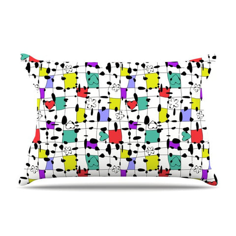 "Julia Grifol ""My Happy Squares"" Pillow Sham - KESS InHouse"