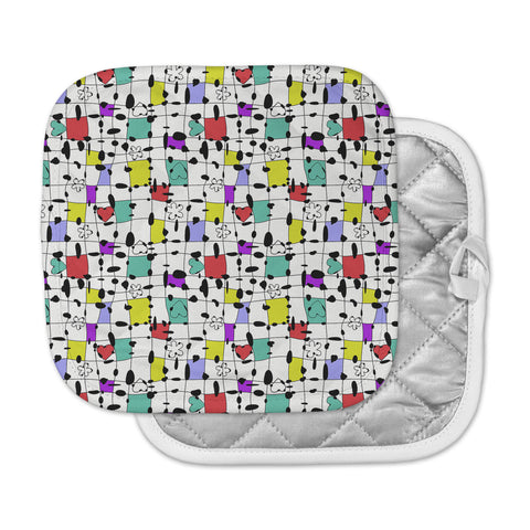 "Julia Grifol ""My Happy Squares"" Pot Holder"