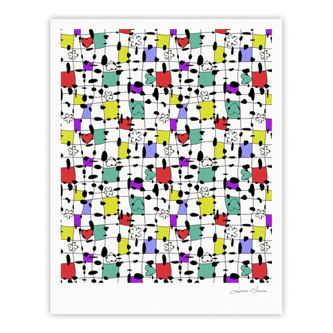 "Julia Grifol ""My Happy Squares"" Fine Art Gallery Print - KESS InHouse"
