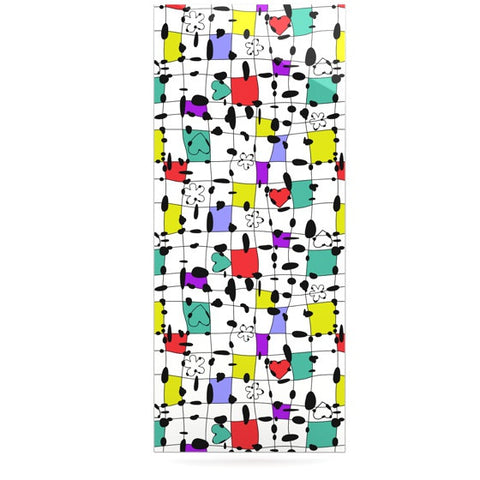 "Julia Grifol ""My Happy Squares"" Luxe Rectangle Panel - KESS InHouse  - 1"
