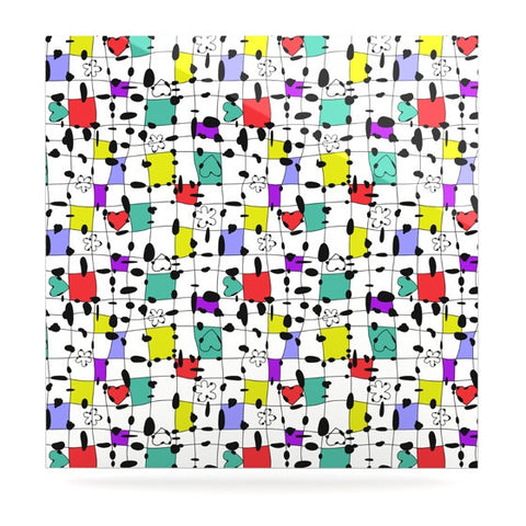 "Julia Grifol ""My Happy Squares"" Luxe Square Panel - KESS InHouse  - 1"