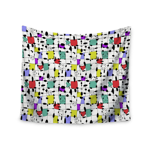 "Julia Grifol ""My Happy Squares"" Wall Tapestry - KESS InHouse  - 1"