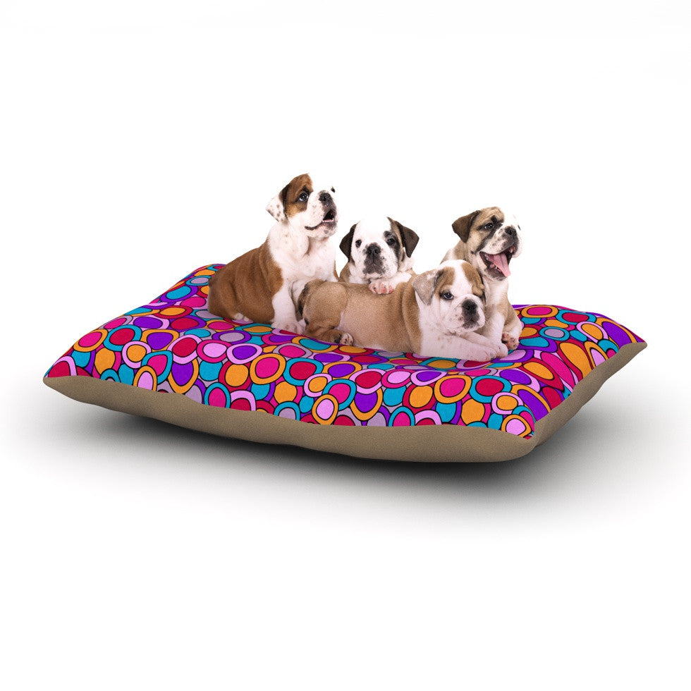 "Julia Grifol ""My Colourful Circles"" Dog Bed - KESS InHouse  - 1"