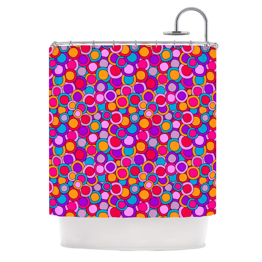 "Julia Grifol ""My Colourful Circles"" Shower Curtain - KESS InHouse"