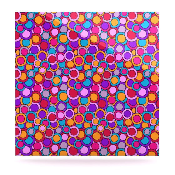 "Julia Grifol ""My Colourful Circles"" Luxe Square Panel - KESS InHouse  - 1"