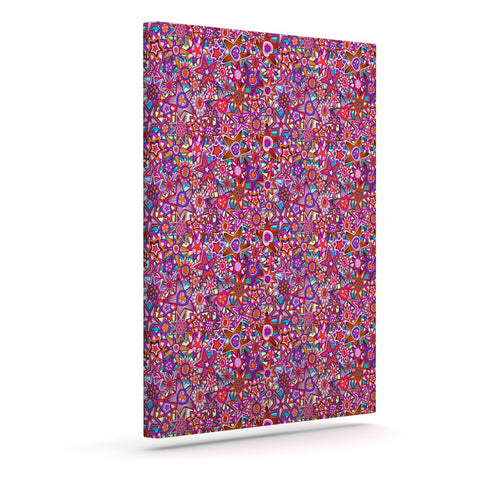 "Julia Grifol ""My Dreams in Color"" Pink Stars Outdoor Canvas Wall Art - KESS InHouse  - 1"