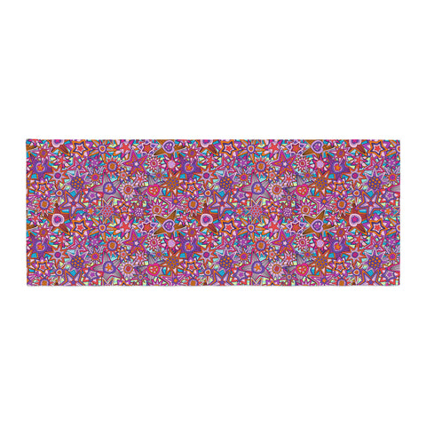 "Julia Grifol ""My Dreams in Color"" Pink Stars Bed Runner - KESS InHouse"