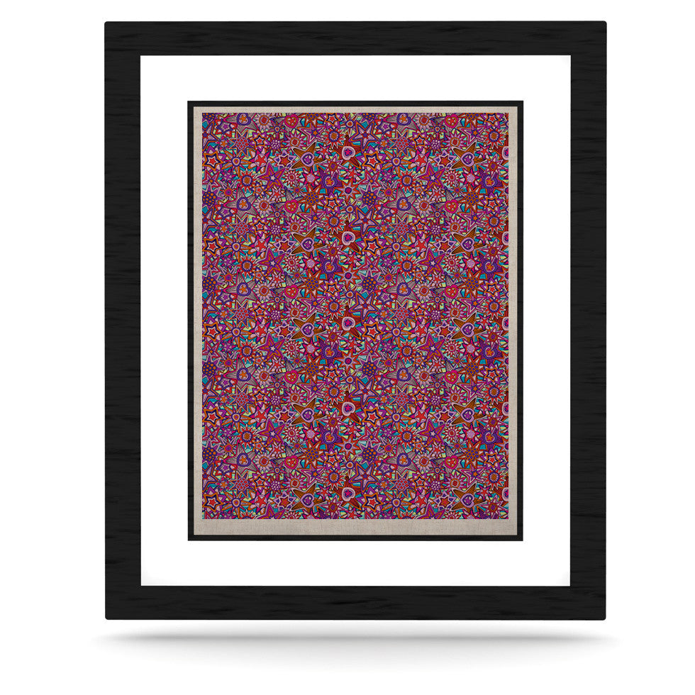 "Julia Grifol ""My Dreams in Color"" Pink Stars KESS Naturals Canvas (Frame not Included) - KESS InHouse  - 1"