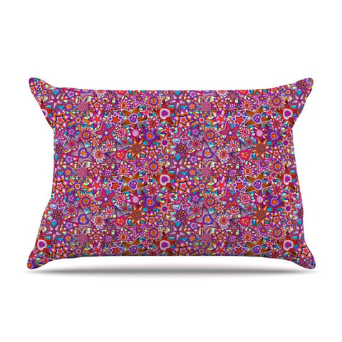 "Julia Grifol ""My Dreams in Color"" Pink Stars Pillow Sham - KESS InHouse"