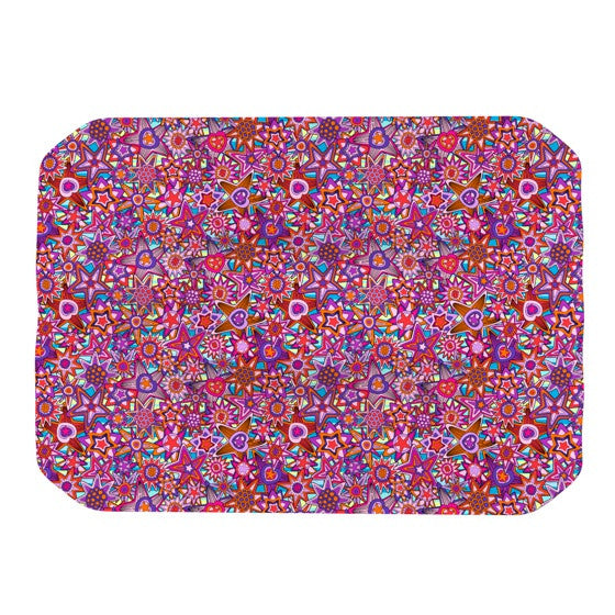 "Julia Grifol ""My Dreams in Color"" Pink Stars Place Mat - KESS InHouse"