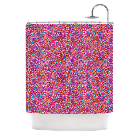 "Julia Grifol ""My Dreams in Color"" Pink Stars Shower Curtain - KESS InHouse"