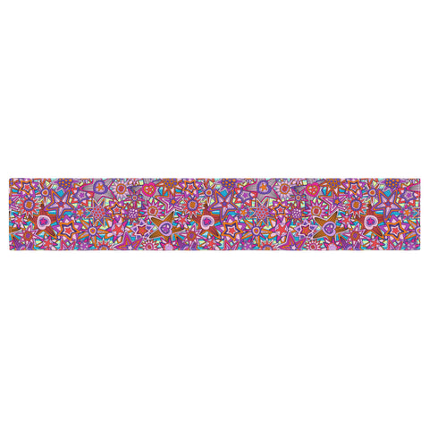 "Julia Grifol ""My Dreams in Color"" Pink Stars Table Runner - KESS InHouse  - 1"