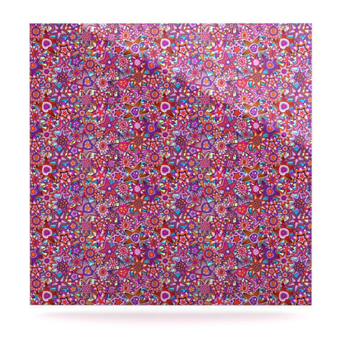 "Julia Grifol ""My Dreams in Color"" Pink Stars Luxe Square Panel - KESS InHouse  - 1"