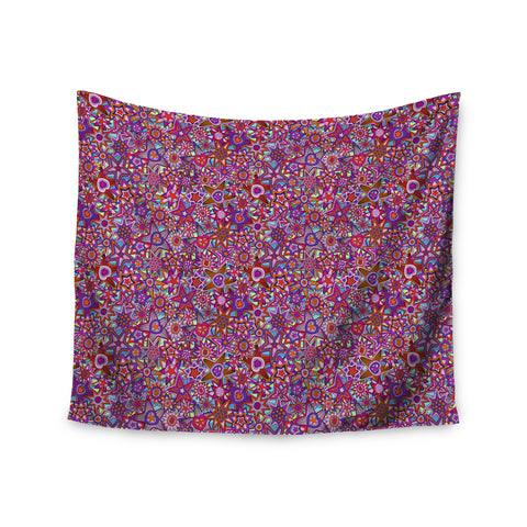 "Julia Grifol ""My Dreams in Color"" Pink Stars Wall Tapestry - KESS InHouse  - 1"