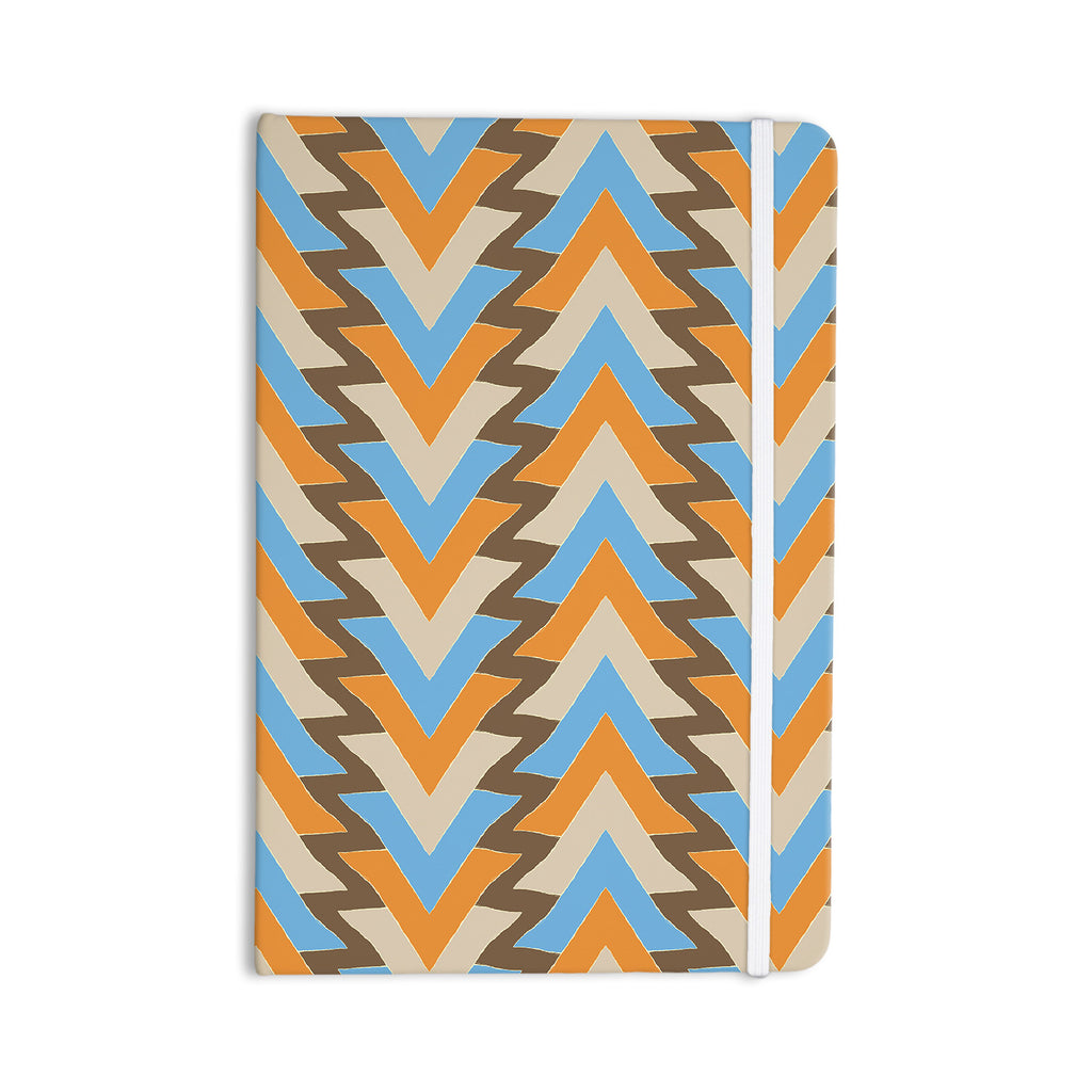 "Julia Grifol ""My Triangles in Blue"" Aqua Orange Everything Notebook - KESS InHouse  - 1"