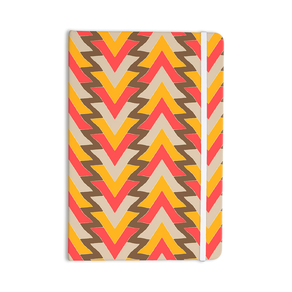 "Julia Grifol ""My Triangles in Red"" Orange Brown Everything Notebook - KESS InHouse  - 1"