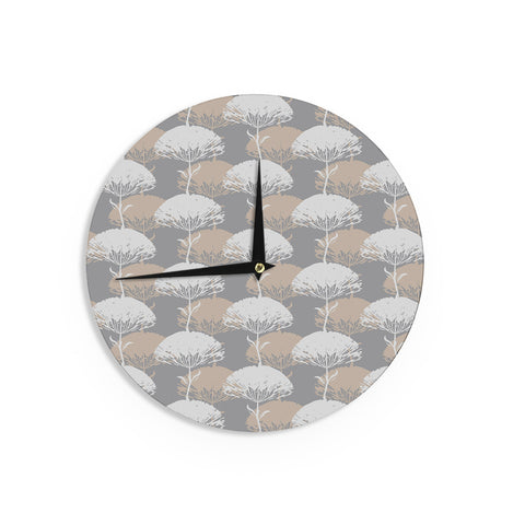 "Julia Grifol ""Charming Tree"" Wall Clock - KESS InHouse"