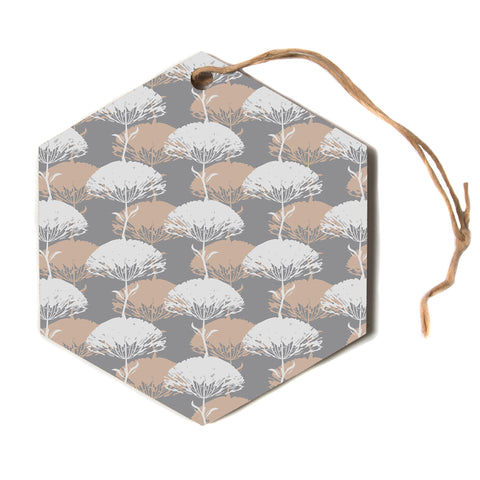 "julia grifol ""Charming Tree""  Hexagon Holiday Ornament"