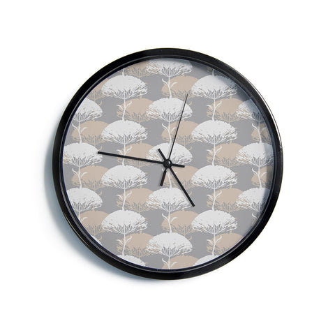 "Julia Grifol ""Charming Tree""  Modern Wall Clock"