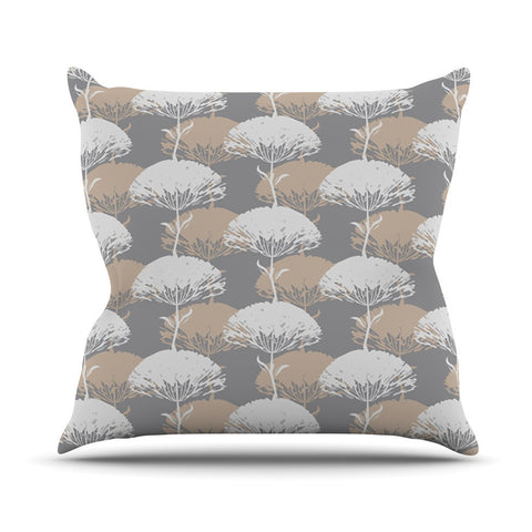 "Julia Grifol ""Charming Tree"" Outdoor Throw Pillow - KESS InHouse  - 1"