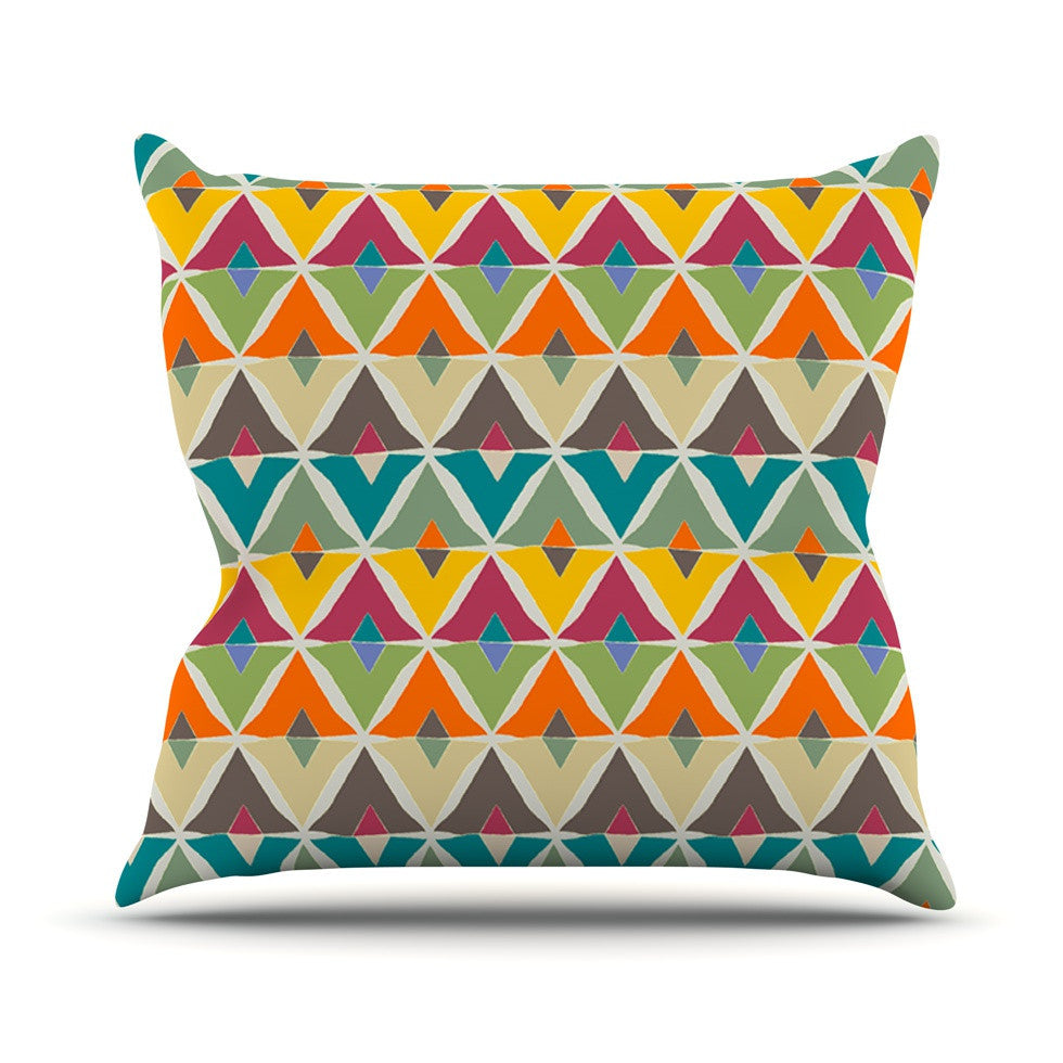 "Julia Grifol ""My Diamond"" Outdoor Throw Pillow - KESS InHouse  - 1"