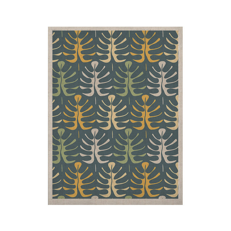 "Julia Grifol ""My Leaves on Blue"" KESS Naturals Canvas (Frame not Included) - KESS InHouse  - 1"
