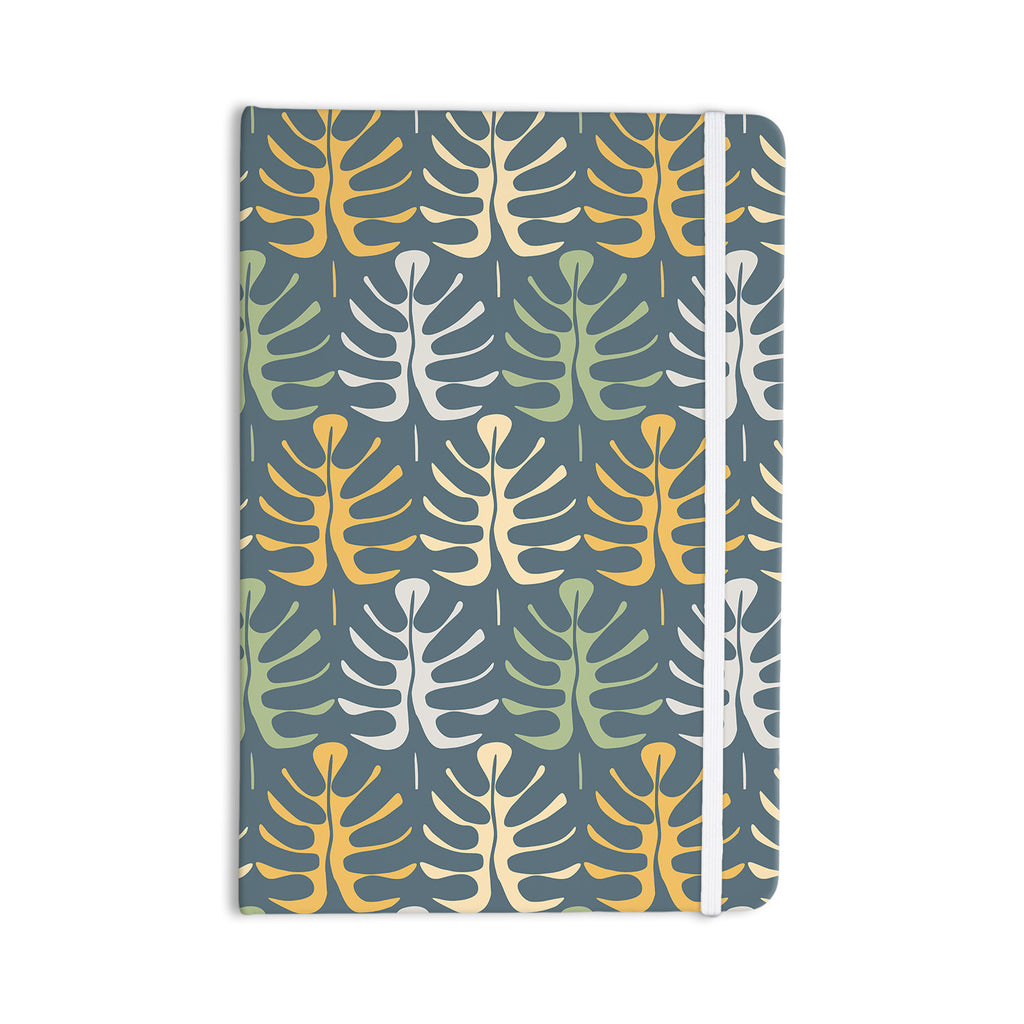 "Julia Grifol ""My Leaves on Blue"" Everything Notebook - KESS InHouse  - 1"