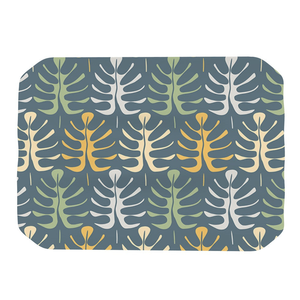 "Julia Grifol ""My Leaves on Blue"" Place Mat - KESS InHouse"